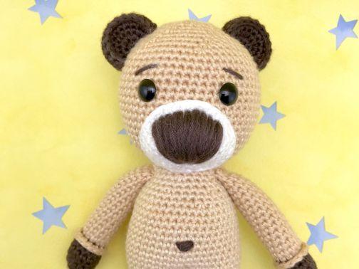 Häkelanleitung Kuschelschnuffelbande Baby Bär Barney | Amigurumi ...