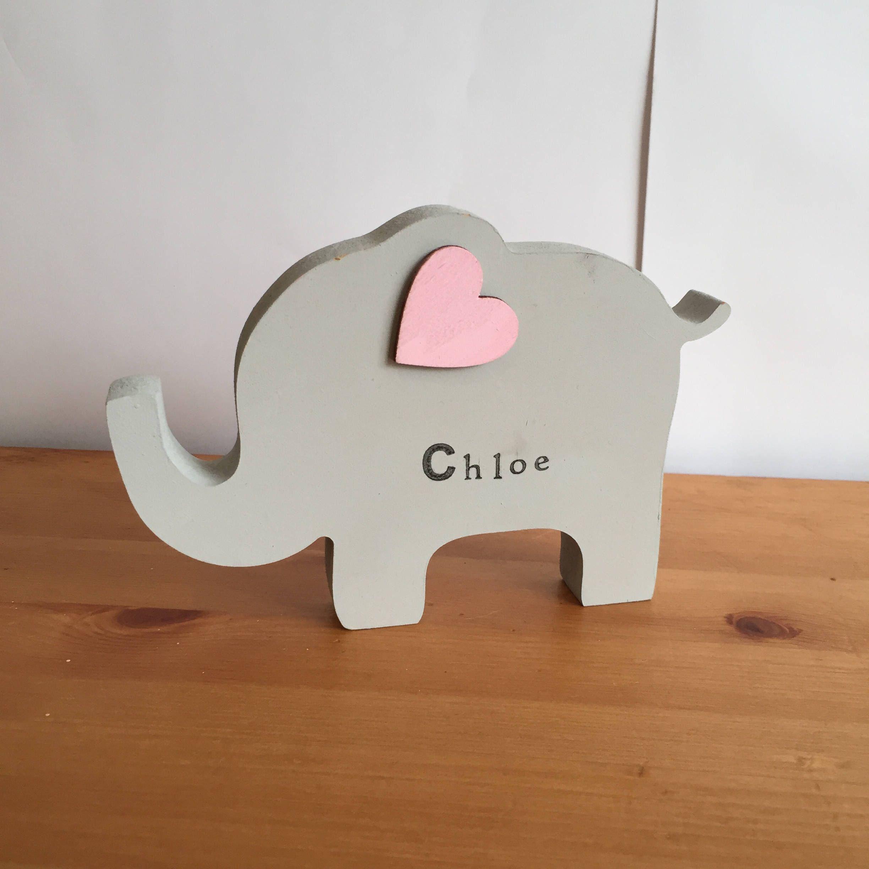 Personalised wooden elephant elephant decor elephant nursery personalised wooden elephant elephant decor elephant nursery unisex nursery new baby gift negle Images