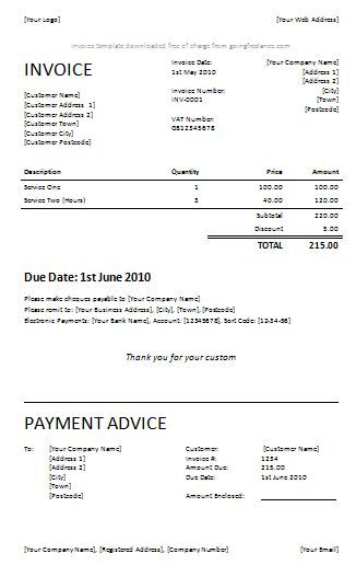 Blank Invoice Template Word Free Invoice Template Microsoft Word