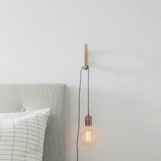 Make The Switch From Bedside Table Lamps To Hanging Light Bulb Beautiful Ideas For Modern Bedro Bedside Table Lamps Hanging Light Bulbs Hanging Bedroom Lights