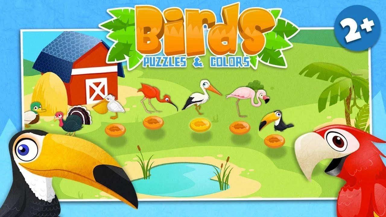 Play & Learn Birds Puzzles and Colors Games for Toddlers or Babies ...