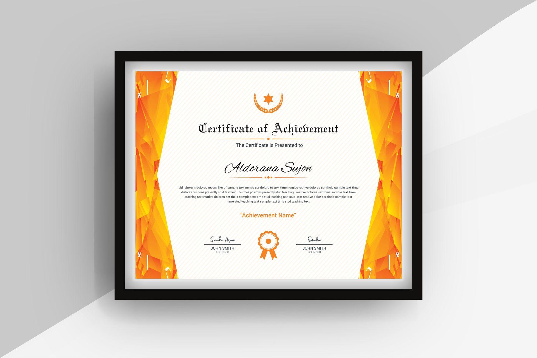 Modern Geometric Certificate Template 77028 Certificate