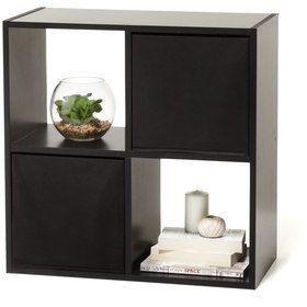 4 Cube Storage Unit Black