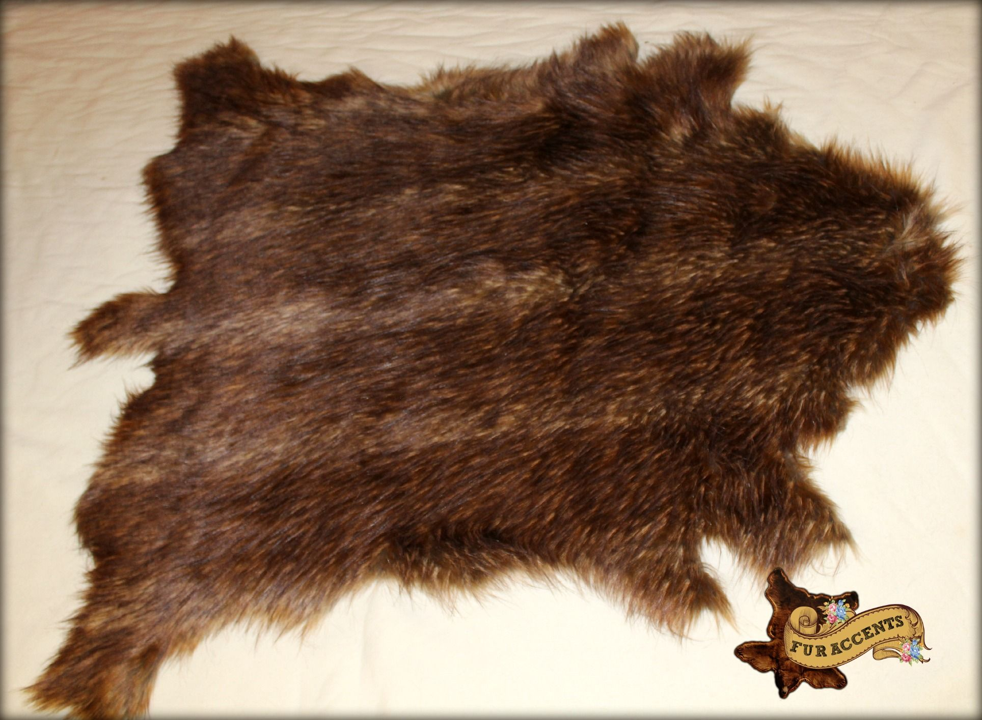 This Great Looking Fallow Deer Hide Pelt Rug Is Made From Polyester Faux Fur Be Kind To Animals Always