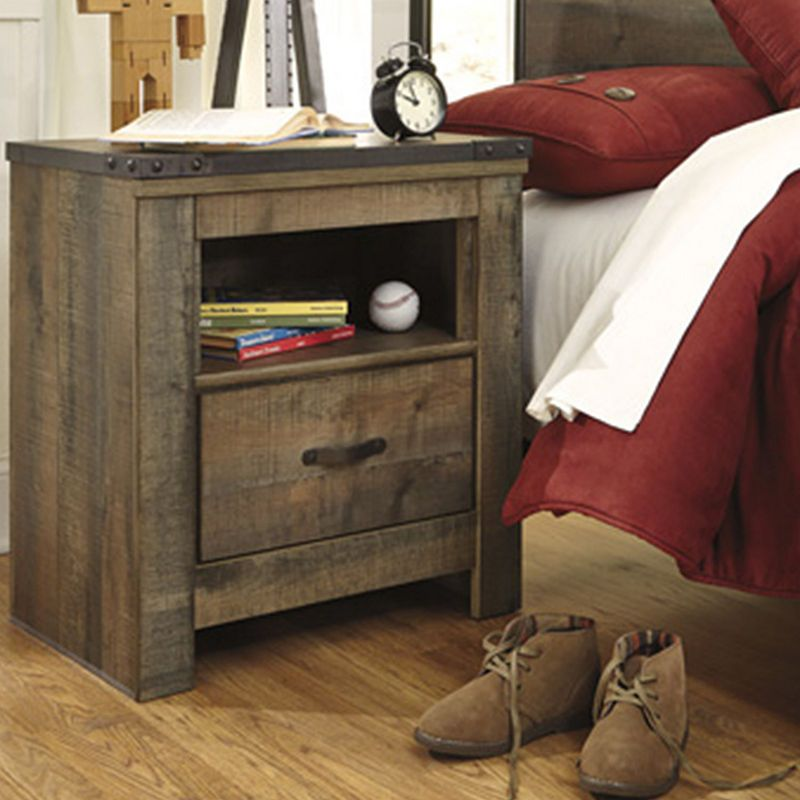 Signature Design By Ashley Trinell 1 Drawer Night Stand Wood