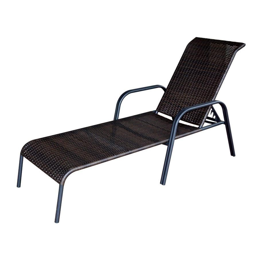 garden treasures pelham bay brown steel stackable patio chaise