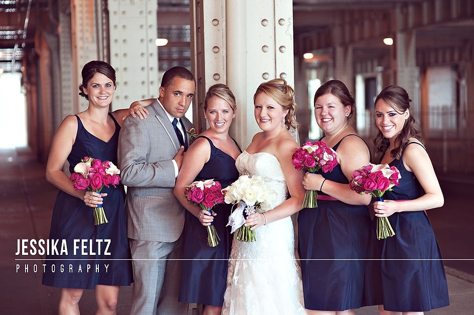 Bride S Man Male Bridesmaid Navy And Pink Wedding Dresses