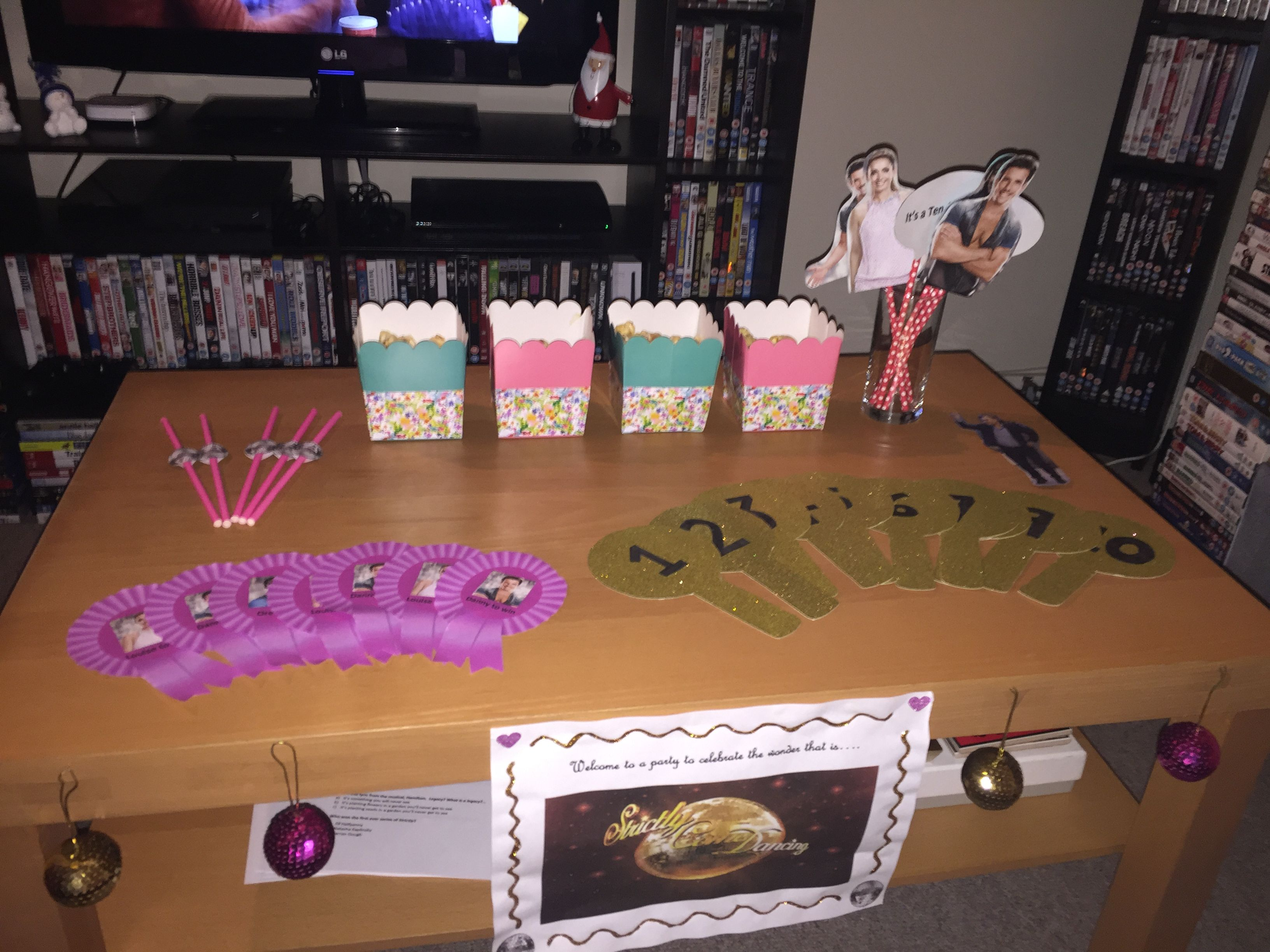 Diy Strictly Come Dancing Party Complete With Glitter Score Paddles Dance Diy Strictly Come Dancing Strictly Come