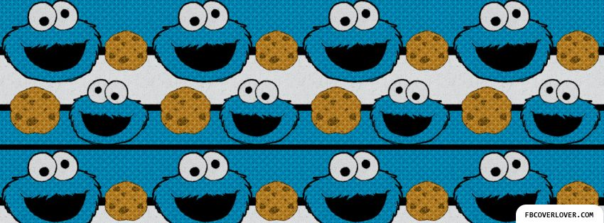 Cookie Monster Pattern Facebook Cover