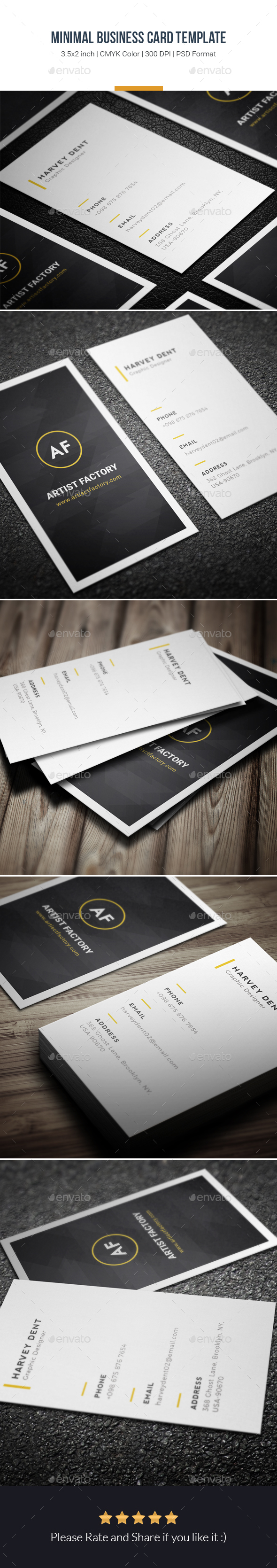 Minimal Business Card Template - Creative Business Cards ...