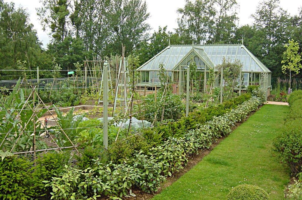 Greenhouse In The Vegetable Garden | Vegetable Garden And Large Greenhouse  Vegetable Garden With Raised Oak