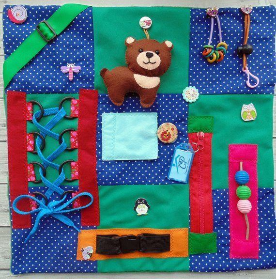 Fidget Blanket Busy Alzheimer Sensory Skills Board Dementia Adult Anxiety Educational