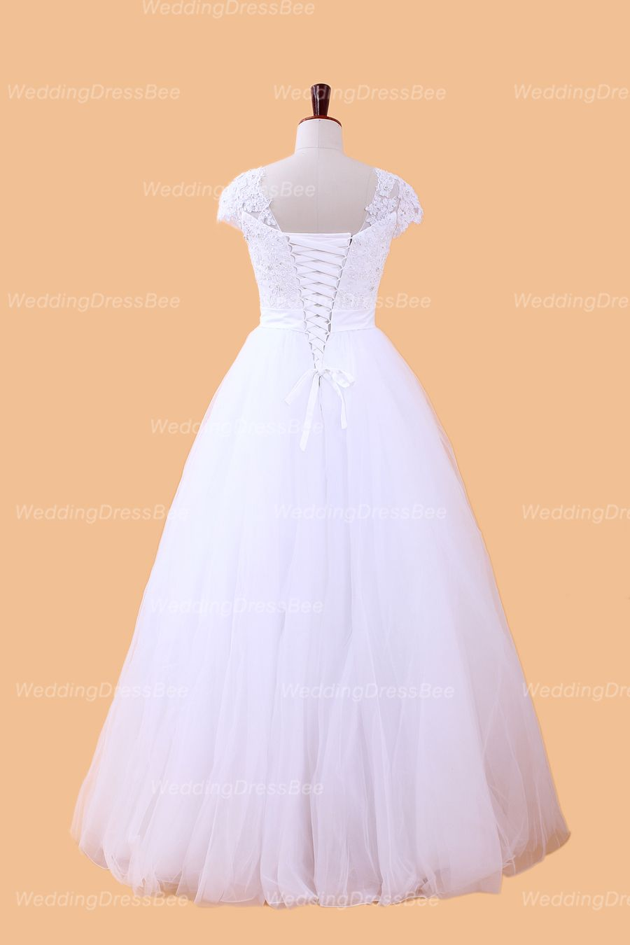 Elegant off shoulder with lace bodice ball gown wedding dress ball