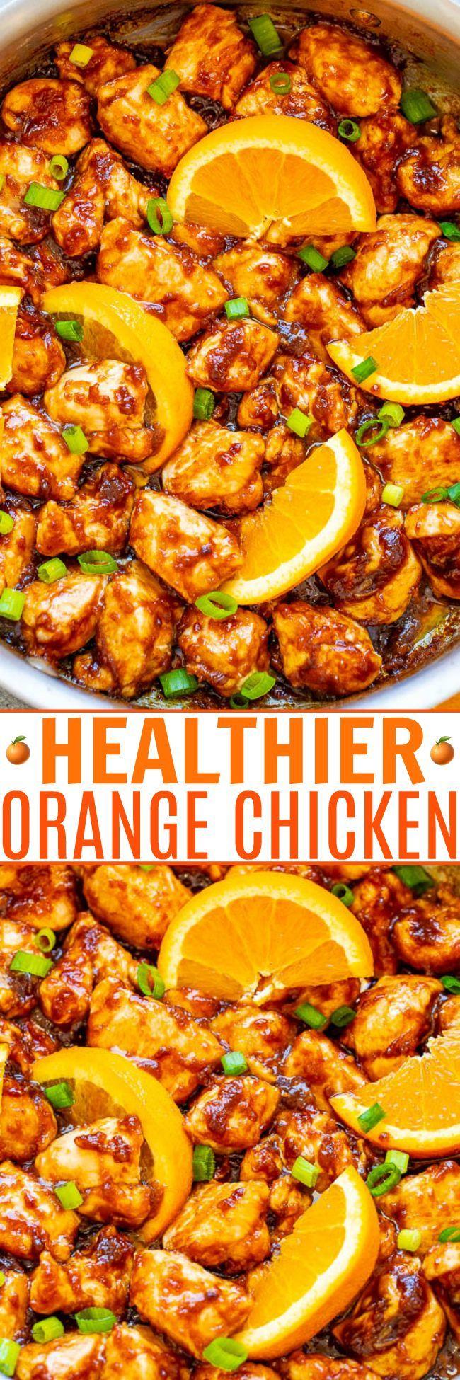 Healthier Orange Chicken #chineseorangechicken