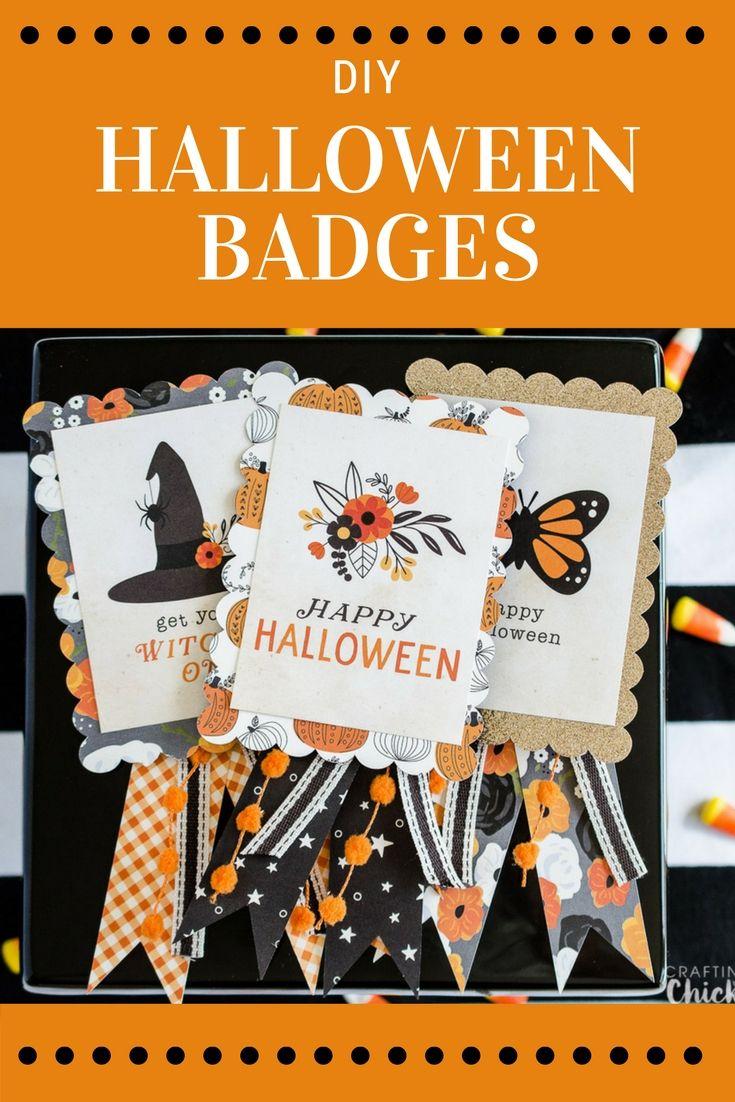 DIY Halloween Badges   Home-made Halloween, Badges and Halloween ...