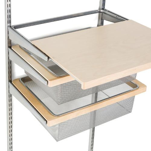 Birch Elfa Decor Gliding Shelf