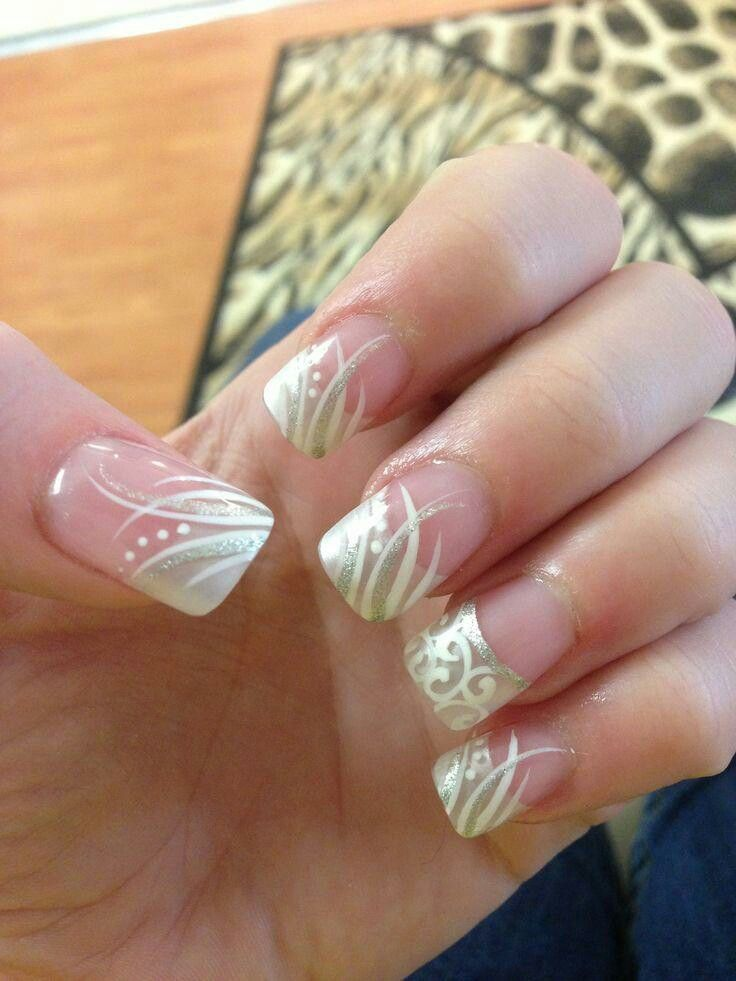 See more about nail art designs, wedding nails and art designs. - Pin By Falisah Ali-Persaud On Nails Pinterest Manicure, Bridal
