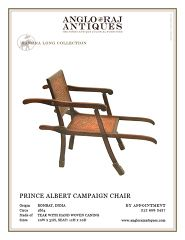 Prince Albert Campaign Chair, Anglo Raj Antiques, India.
