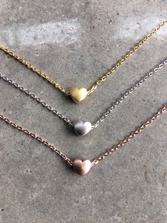 Poco oro collares de corazón el corazón de joyas joyería