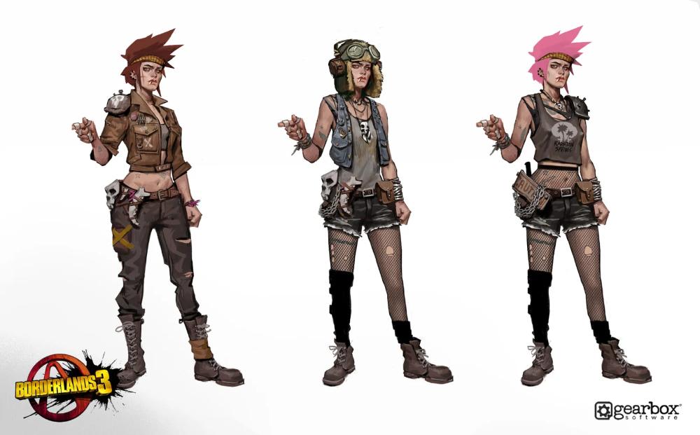 The Art Of Borderlands 3 Concept Art Characters Female Borderlands Art Concept Art Characters