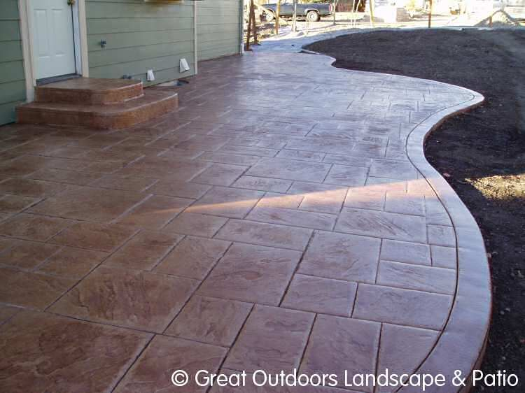 Cement Patio Denver Colorado Landscaping Concrete