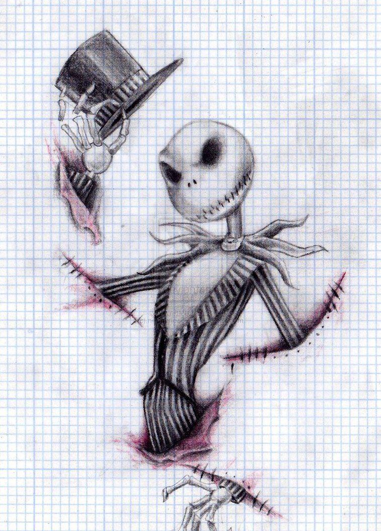 Jack Skellington Sketch With Images Nightmare Before