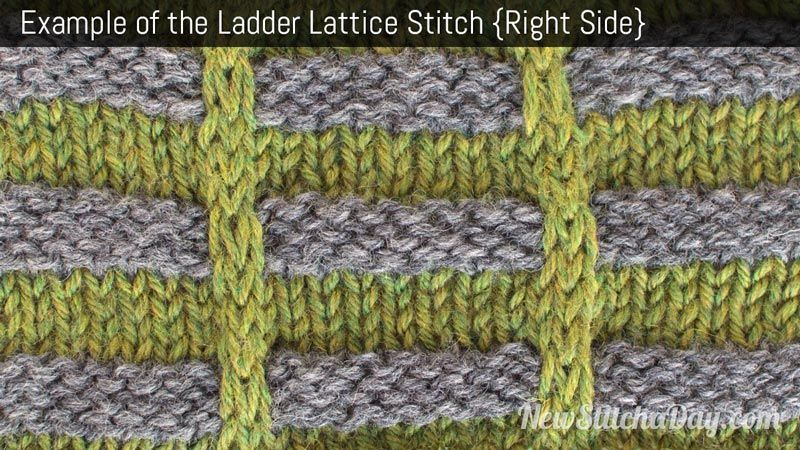 Example Of The Ladder Lattice Stitch Right Side Learn Knit