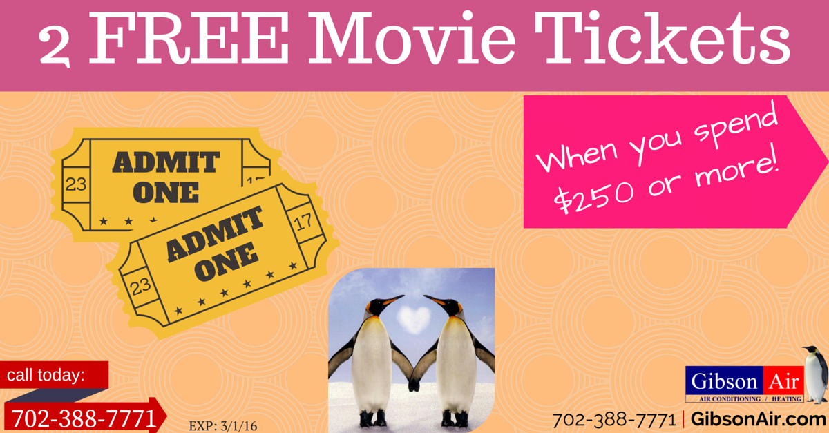 2 free movie tickets coupon when you spend 250 or more
