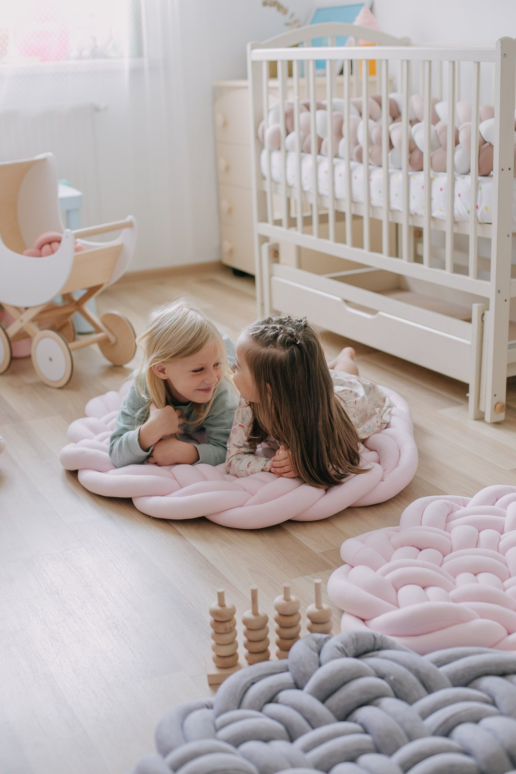 Baby Play Mat Floor Knot Cushion