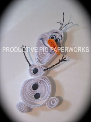 """Olaf """"Frozen"""" Quilling"""