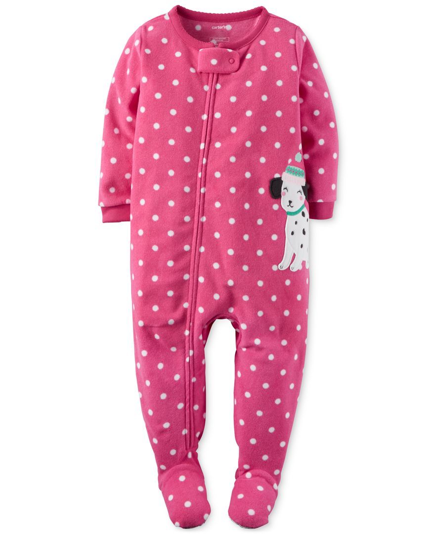 f2dffc052 Carter's 1-Pc. Dot-Print & Dalmatian Footed Pajamas, Baby Girls (0-24  months)