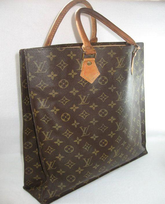 d0c314f11c74 Vintage Louis Vuitton Sac Plat Monogram Tote by newprairiestore ...