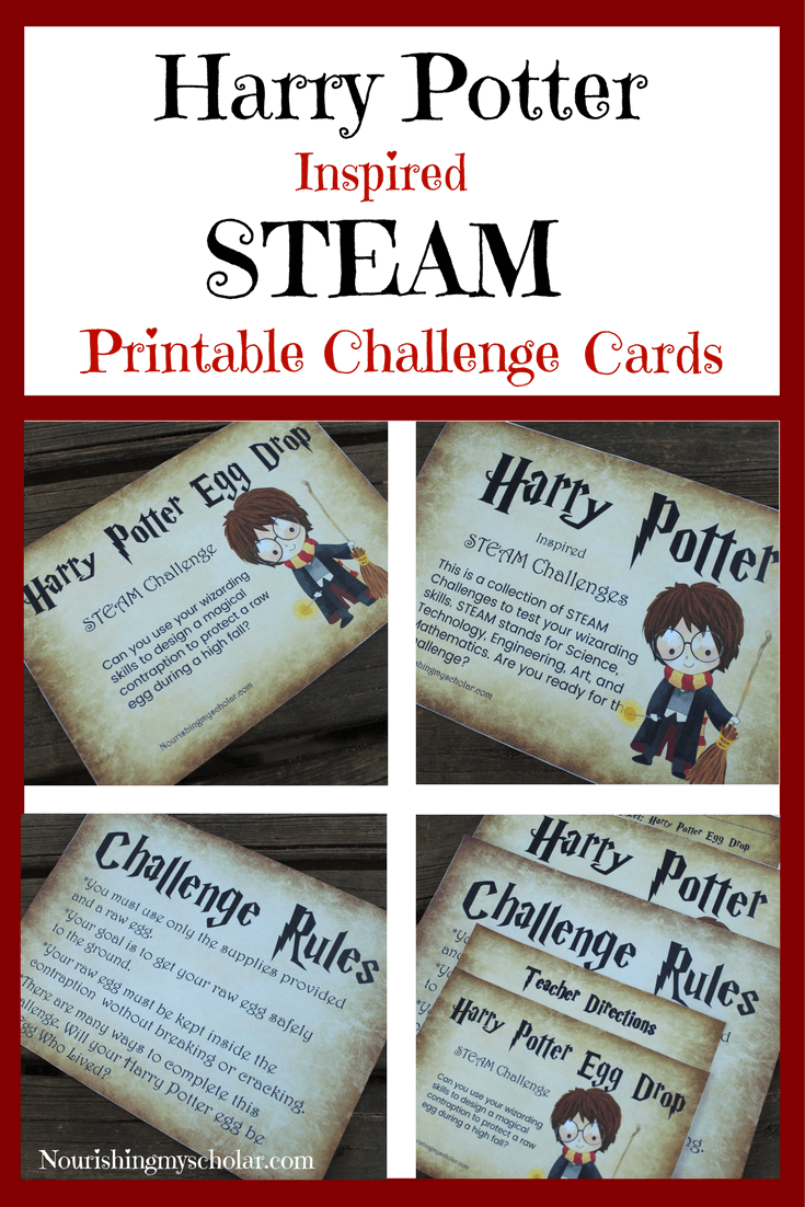 Harry Potter Inspired Fun STEAM Printable Challenge Cards ...