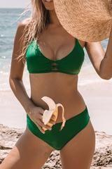 Fete Ready Solid Bikini Set