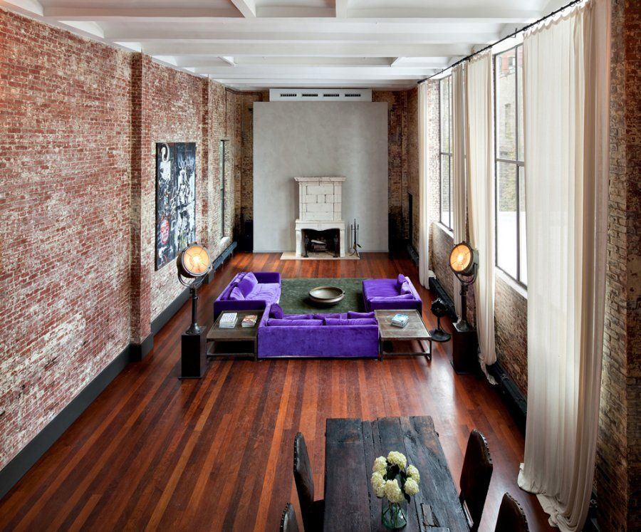 HOUSE OF THE DAY A Story Loft With An Indoor Pool In SoHo Is - Contemporary soho loft with exposed brick and wood beams