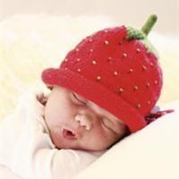 11cb8db5643 Bonnet de bébé Modèle de tricot fraise