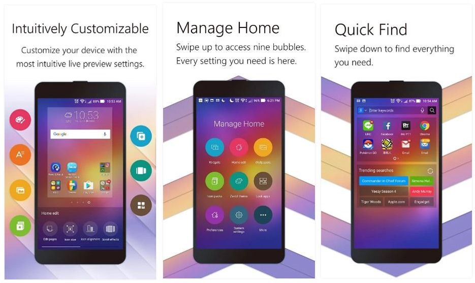 ZenUI Launcher Download  For personalized themes, wallpapers