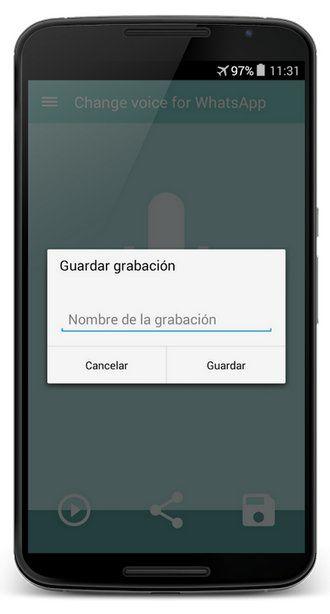 Voice Changer, envía mensajes de audio con la voz cambiada