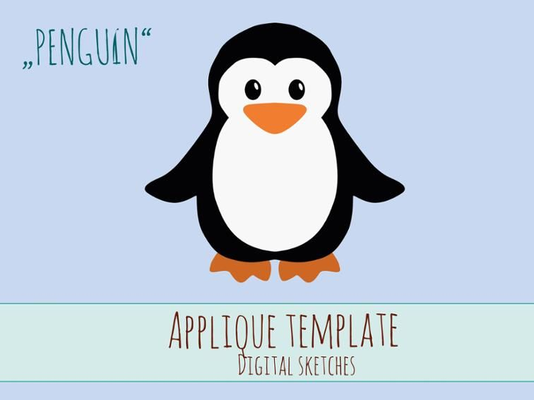 Free Sewing Pattern Penguin Applique Template Free Applique