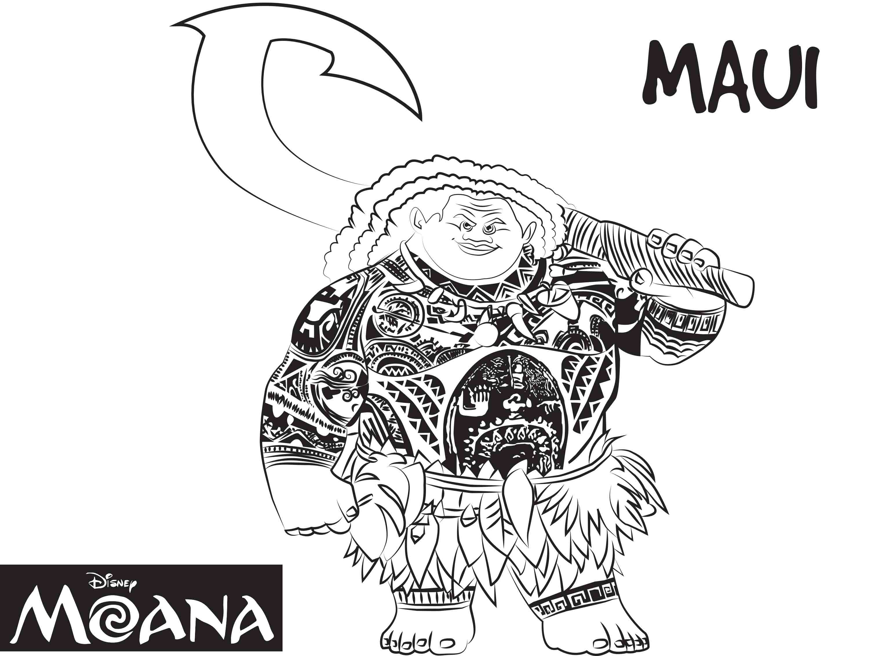 free coloring pages moana