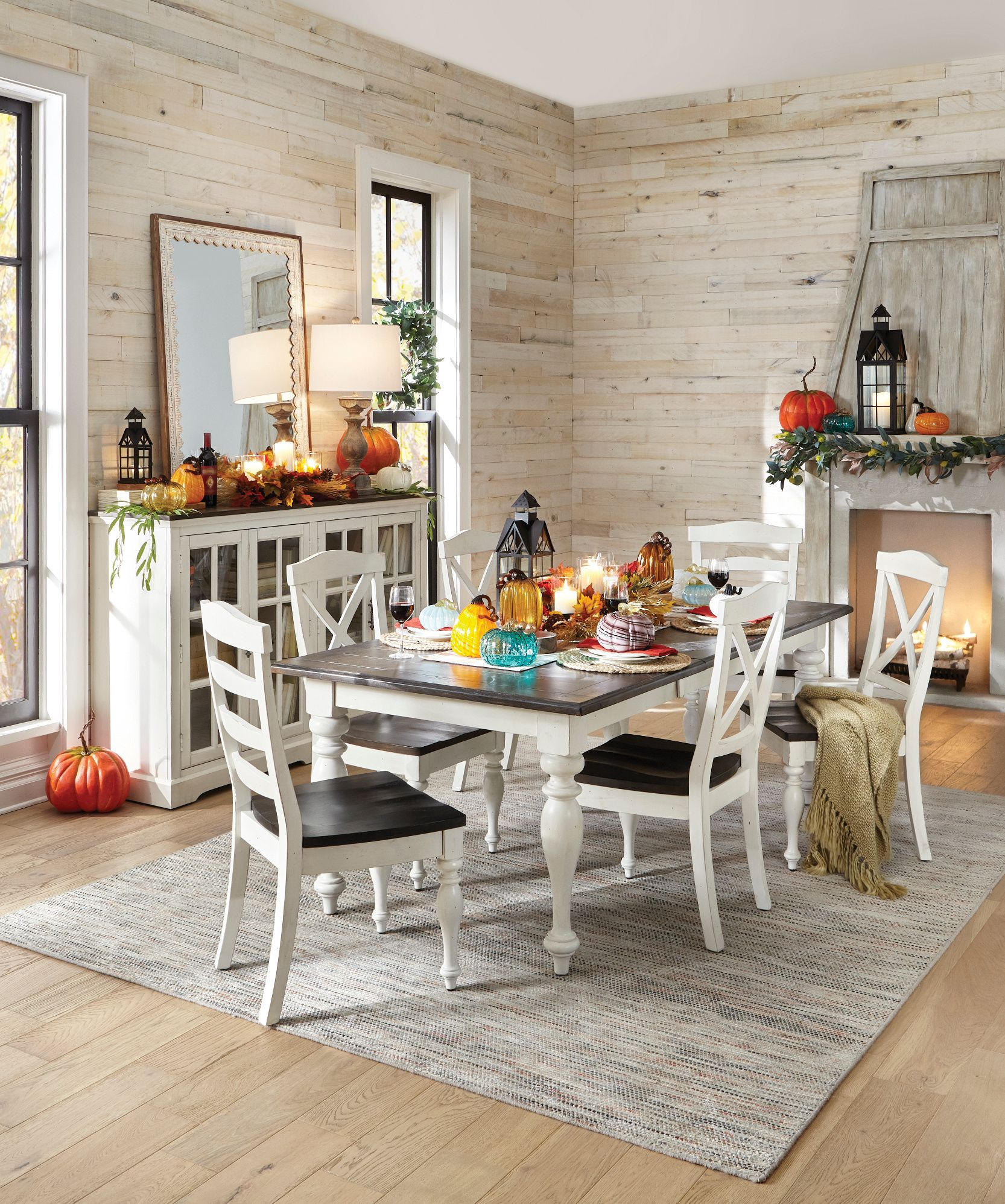 If you love farmhouse style this sturdy dining room set