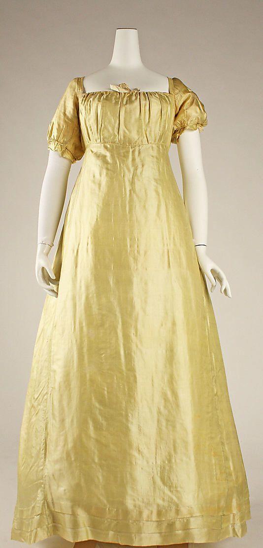 Wedding Dress Date 1812 Culture American Medium Silk Dimensions Length At Cb 53 3 4 I Vintage Dresses Historical Dresses Dresses