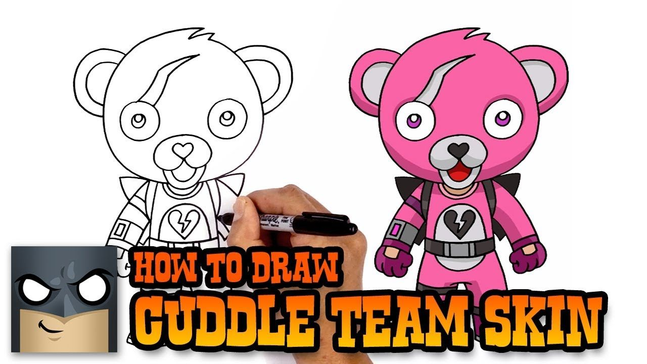 How to Draw Cuddle Team Leader | Fortnite (Art Tutorial ...