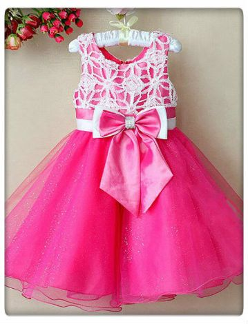 Pink and white party dress – My children's boutique