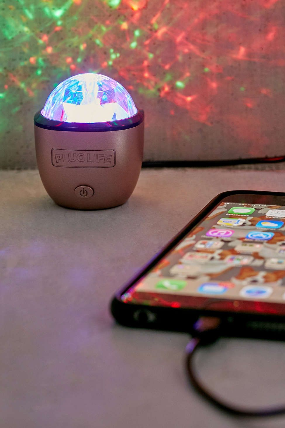 rose gold iphone disco light discos urban outfitters and urban