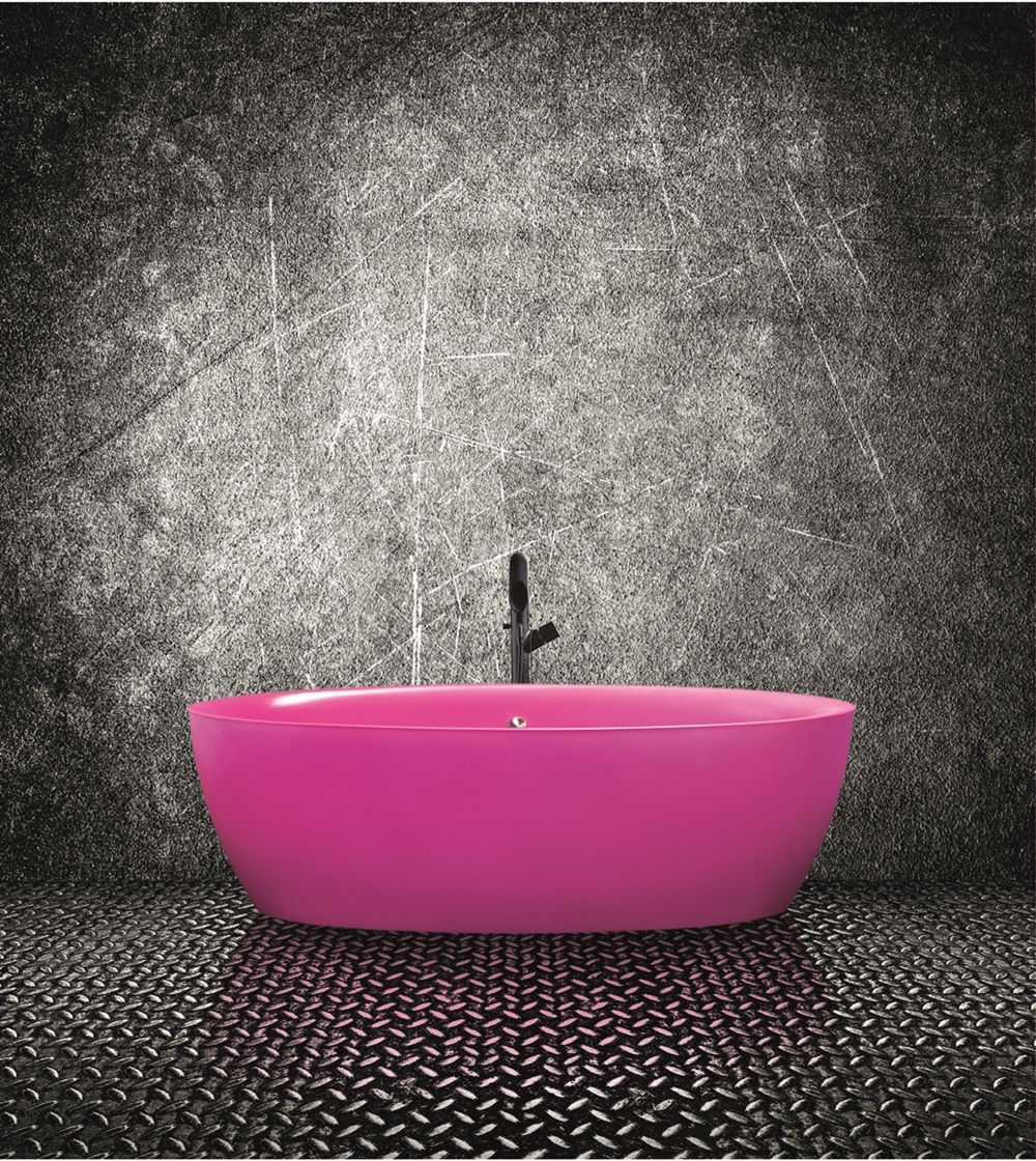 Neon pink bath from Aston Matthews www.astonmatthews.co.uk ...