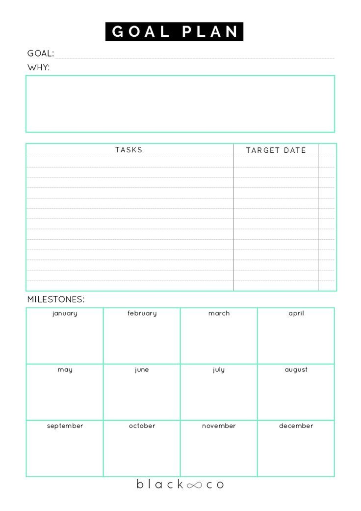 Goal Plan Sheet Goal planning, Planners and Goal - task sheet templates