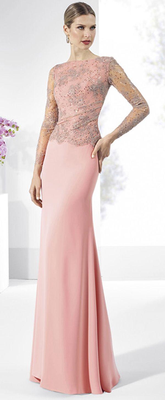 Exquisite Lace & Chiffon Bateau Neckline Sheath Mother Of The Bride ...