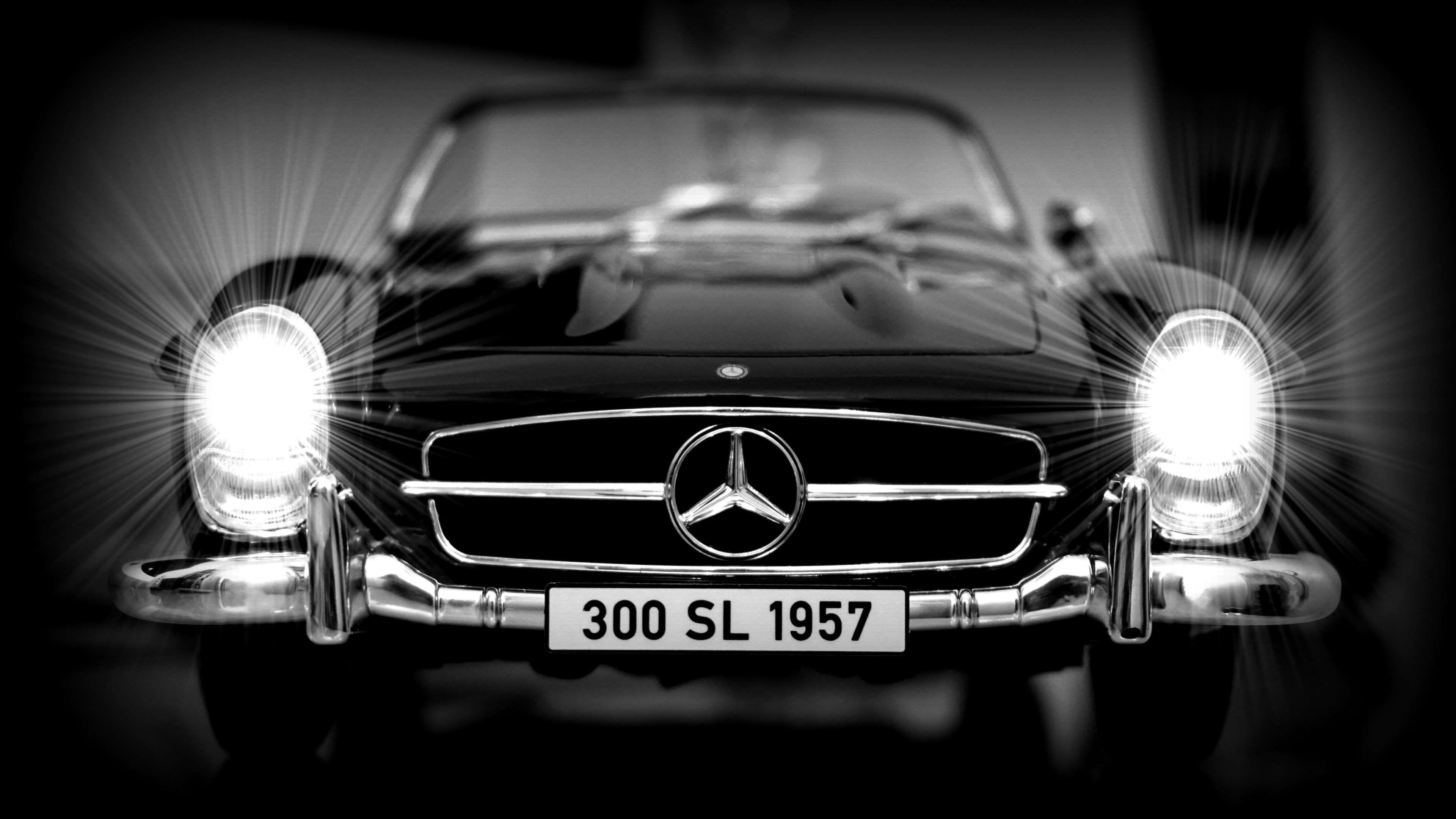 300 sl #auto #automobile #automotive #badge #black black white #bran