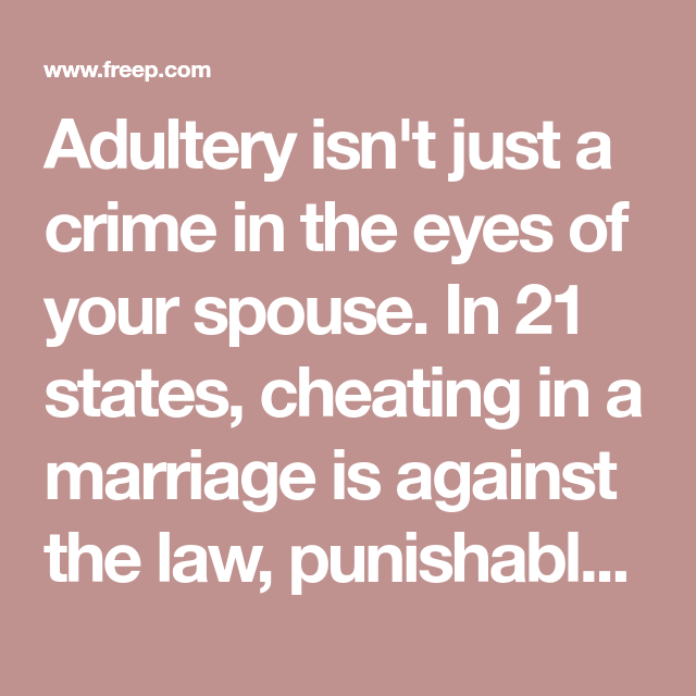 Is it against the law to cheat on your spouse